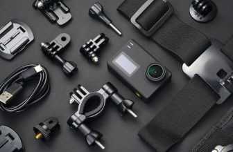 Action camera and accessories.